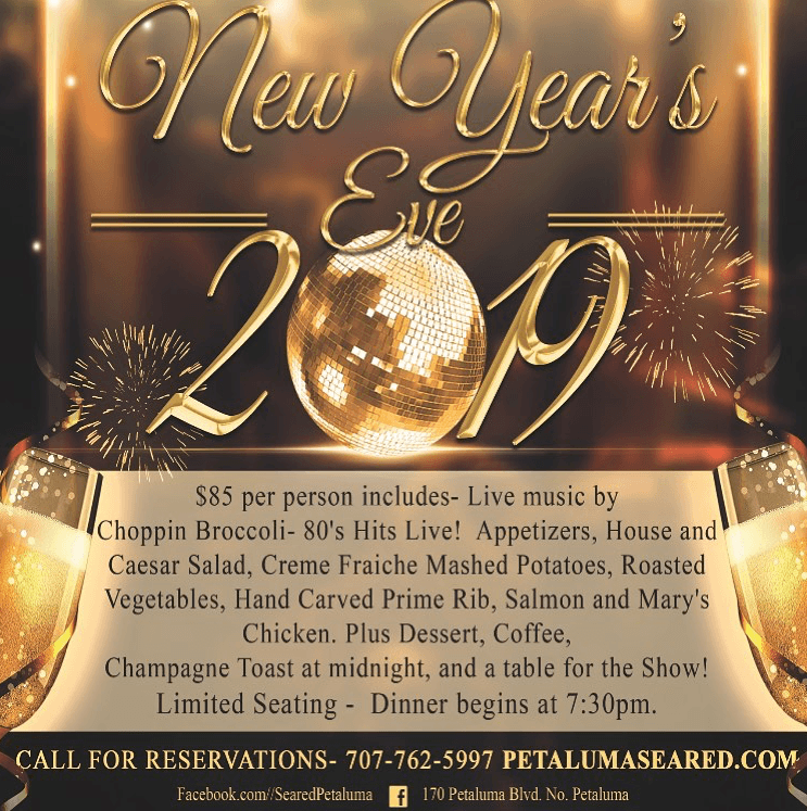 invitation to new years party at seared