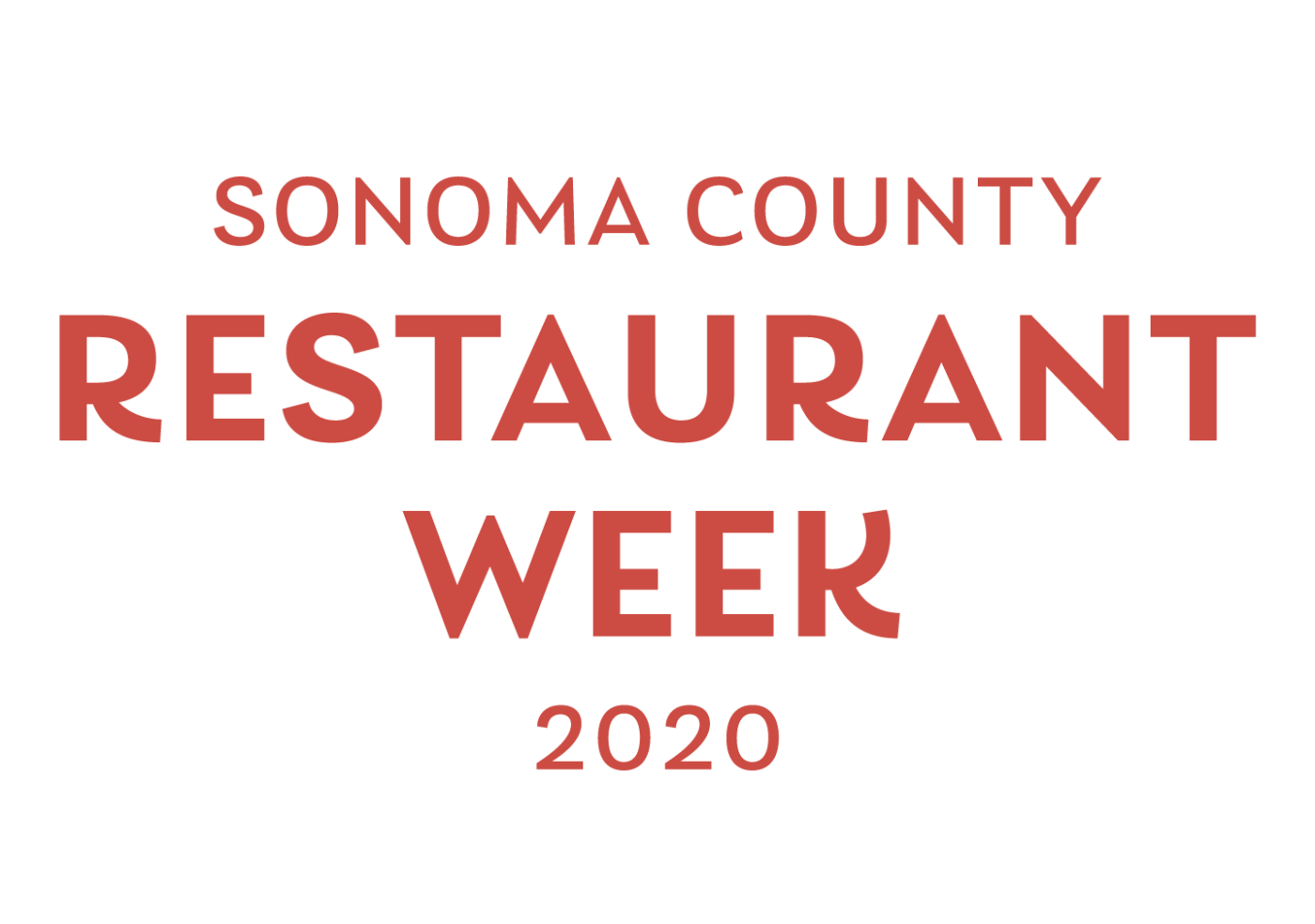 Sonoma County Restaurant Week 2020 logo